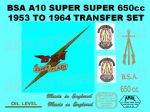 BSA A10 Super Flash 1953 to 1954  Transfer Decal Set